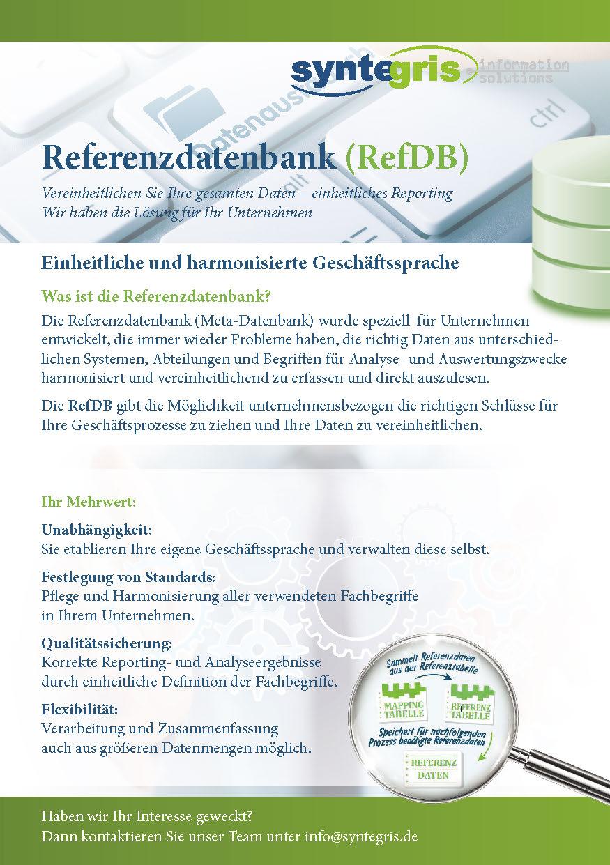 Referenzdatenbank (RefDB)