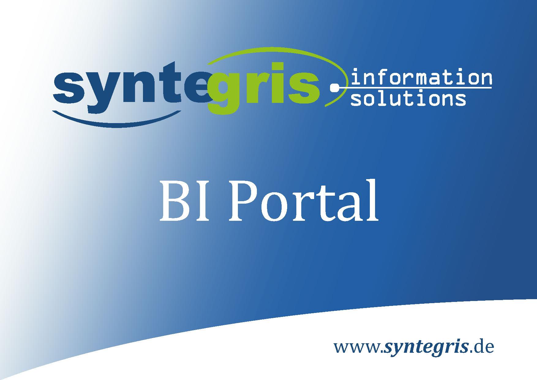 Syntegris BI Portal